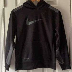 Nike Black Therma-fit Hooded sweatshirt Youth  L